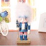 ตุ๊กตานัทแครกเกอร์ (Nutcraker) ขนาด 25 ซ.ม. สีฟ้ากากเพชร