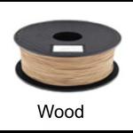 เส้นพลาสติค PLA ขนาด 1.75 มม. ขนาด 1 กก. (1.75mm PLA filament-1kg.) - WOOD COLOR