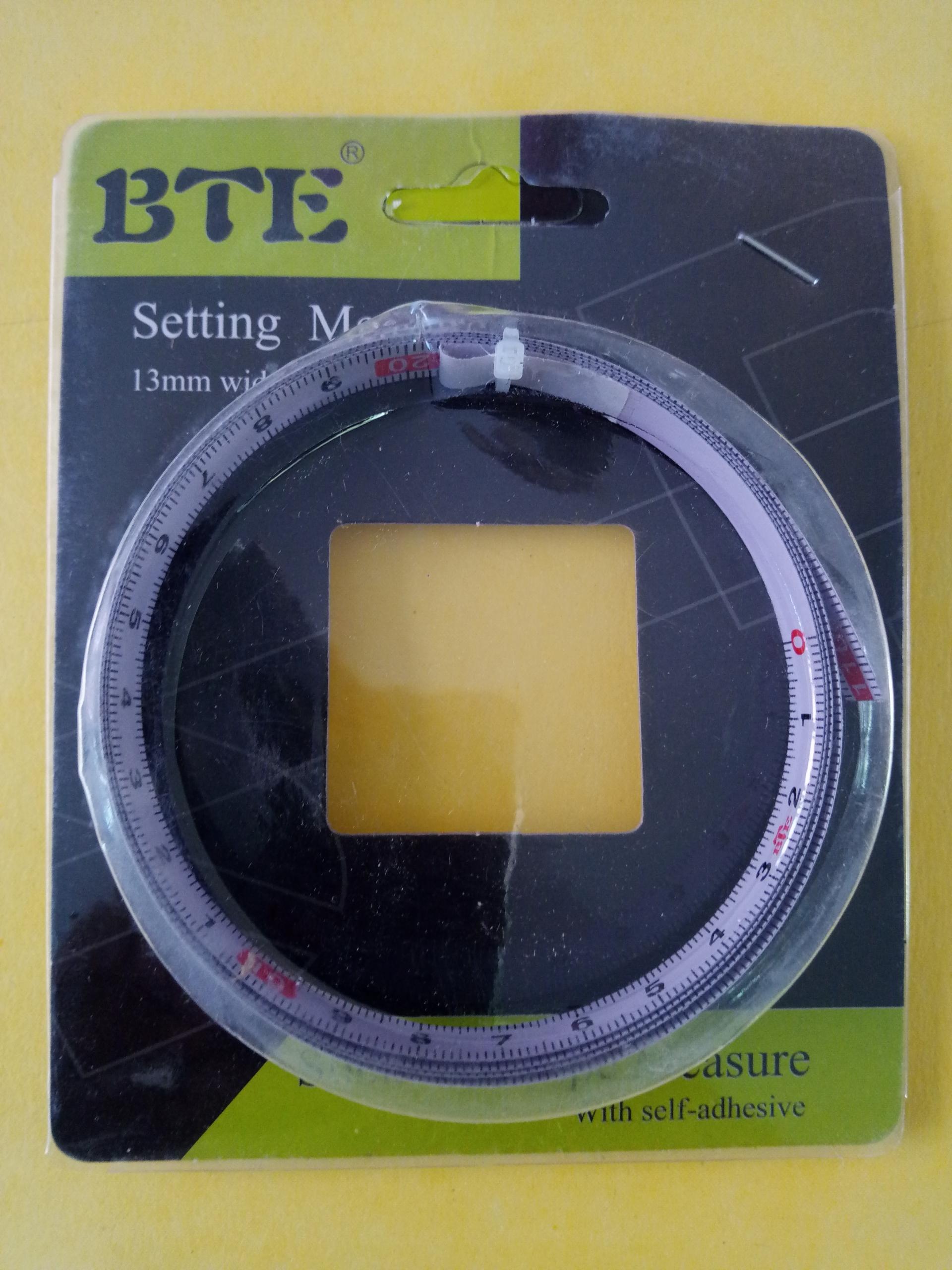 BTE 1.1 Meter Self Adhesive Measuring Tape (R to L)- เทปวัดระยะมีแถบกาวในตัวด้านหลัง อ่านระยะจากขวาไปซ้ายยาว 1.1 ม.