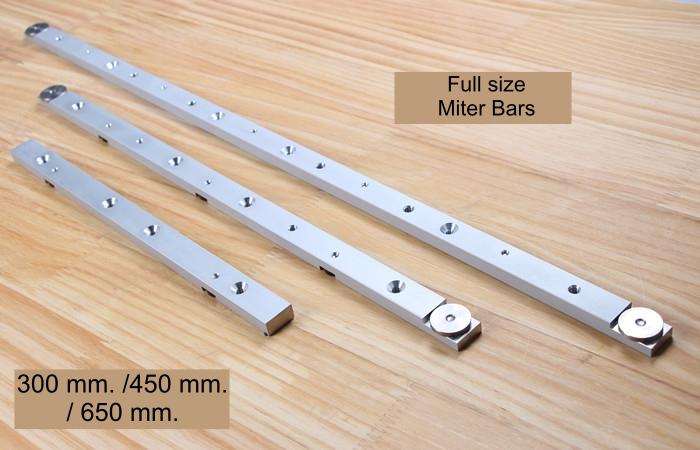 Aluminum Miter Bars แท่งอลูมิเนียมสไลด์สำหรับร่อง Miter ใช้ทำจิ๊ก หรือ Sled