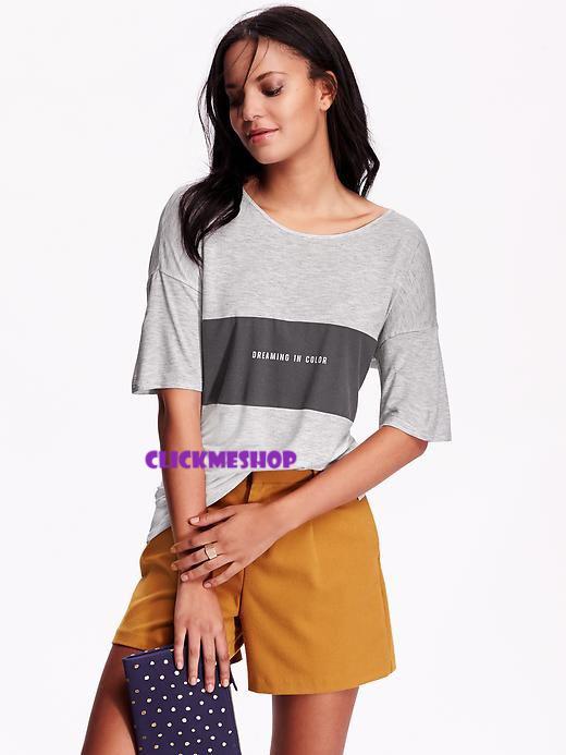 (ไซส์ XL หน้าอก 48-50 ยาว 28 นิ้ว) เสื้อยืดแขนสั้น สีเทาเข้ม ยี่ห้อ oldnavy มีสกรีนลายที่อกเสื้อ ผ้านิ่มน่ารักแนวเกาหลีอินเทรน เนื้อผ้านิ่มๆใส่สบายๆคะ สำเนา