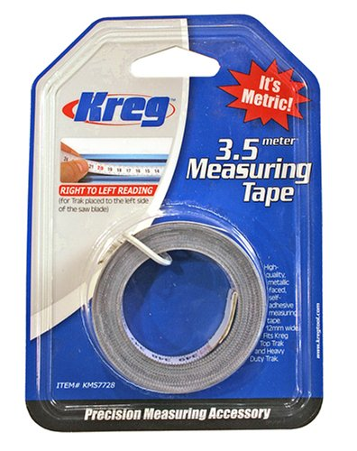 Kreg KMS7728 3.5 Meter Self Adhesive Measuring Tape (R to L)- เทปวัดระยะมีแถบกาวในตัวด้านหลัง อ่านระยะจากขวาไปซ้าย