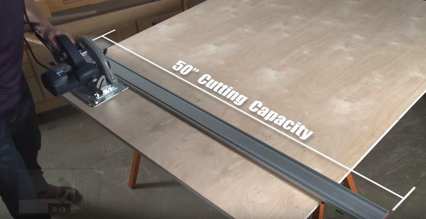 DURATEC 885xx Wide Track Cutting Guide - แคล้มป์ช่วยตัดไม้แผ่น
