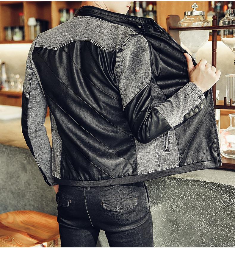 เสื้อแจ็คเก็ต หนังpu เสื้อแฟชั่นผู้ชาย สินค้านำเข้า