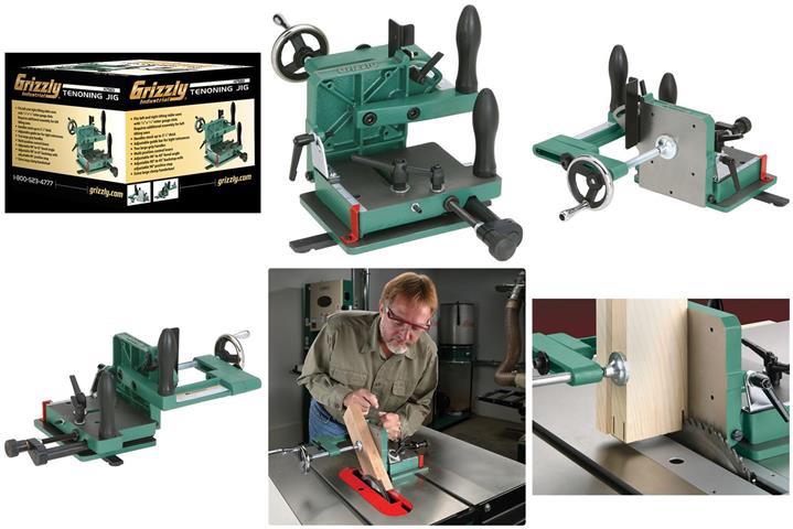 GRIZZLY H7583 - Tenoning Jig for Table Saw จิ๊กตัดเดือยเหลี่ยมสำหรับโต๊ะเลื่อยมาตรฐาน US