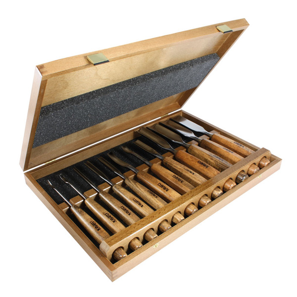 NAREX 868100 Set of carving chisels, PROFI 12pcs - ชุดสิ่วแกะสลักรุ่นสุดยอดของ NAREX