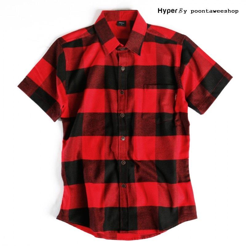 Hyper - เสื้อเชิ๊ต วินเทจ เสื้อแฟชั่น ผู้ชาย