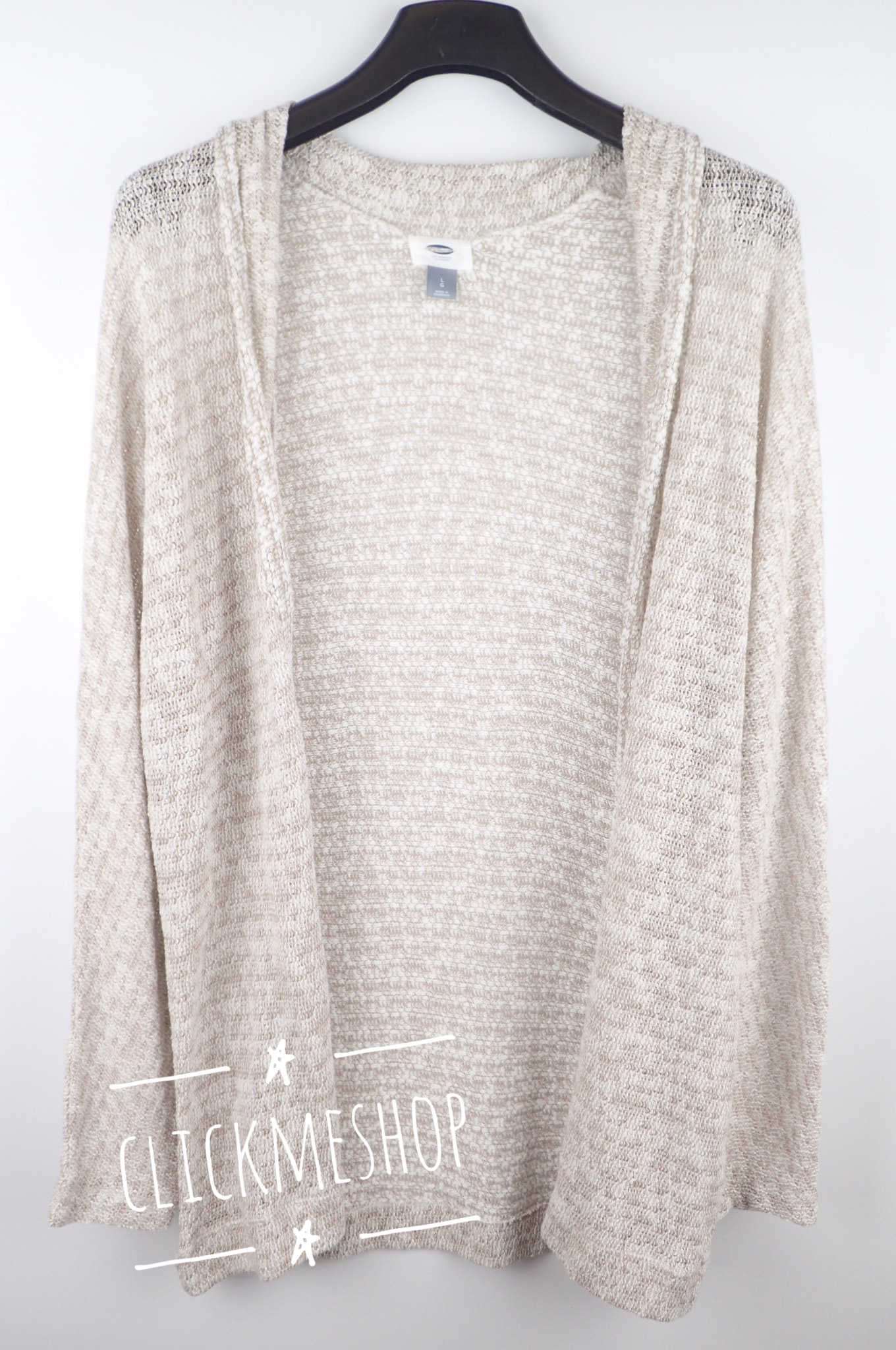 (size L หน้าอก 44-46 นิ้ว ) เสื้อคลุม Oldnavy สีน้ำตาลอ่อน ใส่คลุมสบายๆ น่ารักคะ