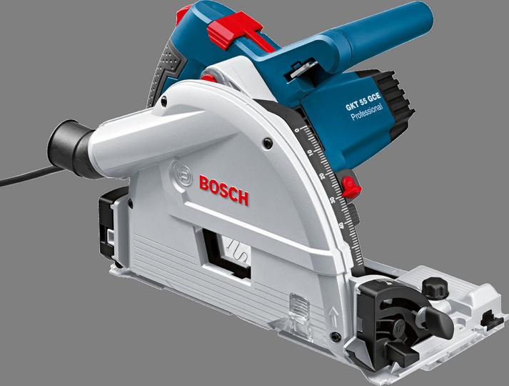Bosch GKT 55 GCE Professional Track Saw (เลื่อยรางบ็อช พร้อมราง 1.6 ม. และกล่องใส่เลื่อย L-Boxx)