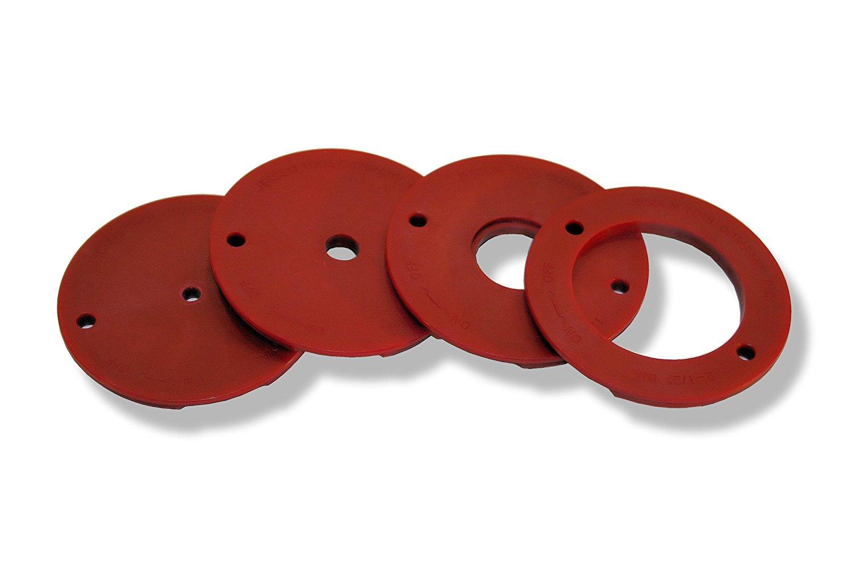 JessEm 4-Piece Tab-Loc Insert Ring Set- แผ่นช่องเปิดเพลทโต๊ะเร้าเตอร์ *