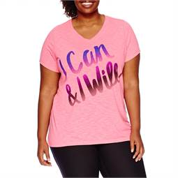 ( 2x หน้าอก 46-48 นิ้ว ) เสื้อยืด สีชมพู คอวีสกรีนลายผ้าใส่สบาย น่ารักคะ