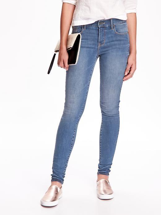 ( ไซส์ 14 เอว 34 สะโพก 44 นิ้ว ) กางเกงยีนส์ Oldnavy สีอ่อน ทรง skinny ผ้ายีนส์ยืดใส่สบายคะ