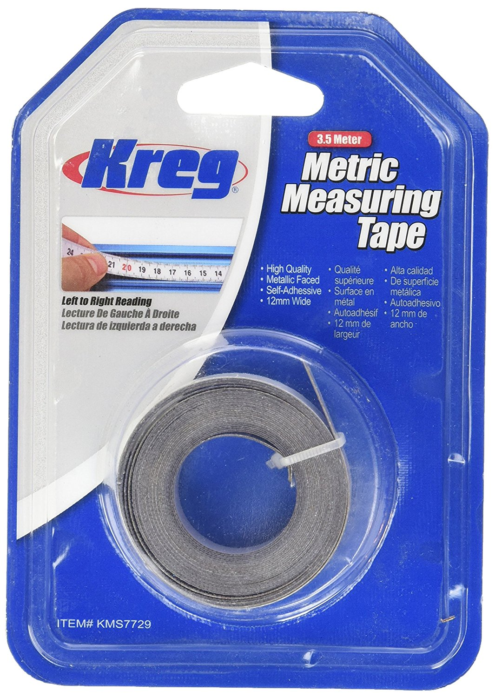 Kreg KMS7729 3.5 Meter Self Adhesive Measuring Tape (L to R)- เป็นเทปวัดระยะ มีแถบกาวในตัวด้านหลัง ใช้อ่านระยะจากซ้ายไปขวา
