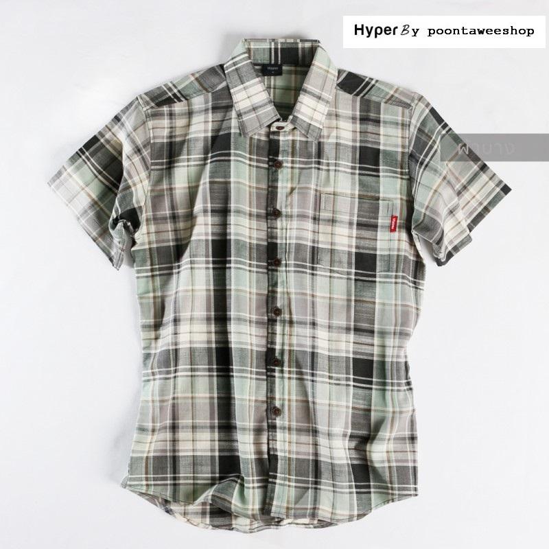 HYPER - เสื้อเชิ๊ต เสื้อแฟชั่น ผู้ชาย วินเทจ