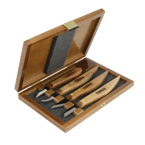 NAREX 869100 set of carving Knives, WOOD LINE PROFI ชุดมีดแกะสลัก