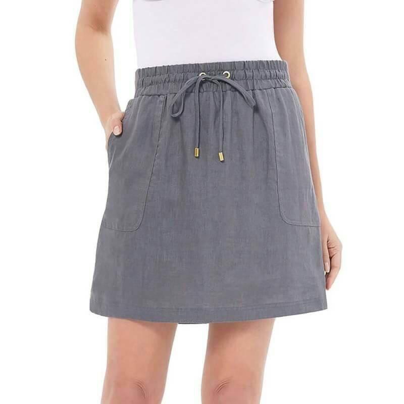 ( ไซส์ XXL เอว 40-42 )กระโปรงกางเกง สีเทา ยี่ห้อ company มีโบว์เอว น่ารักมากๆคะ