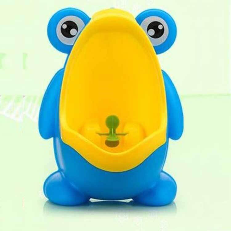โถปัสสาวะสำหรับเด็ก รูปร่างกบ สีฟ้าเหลือง