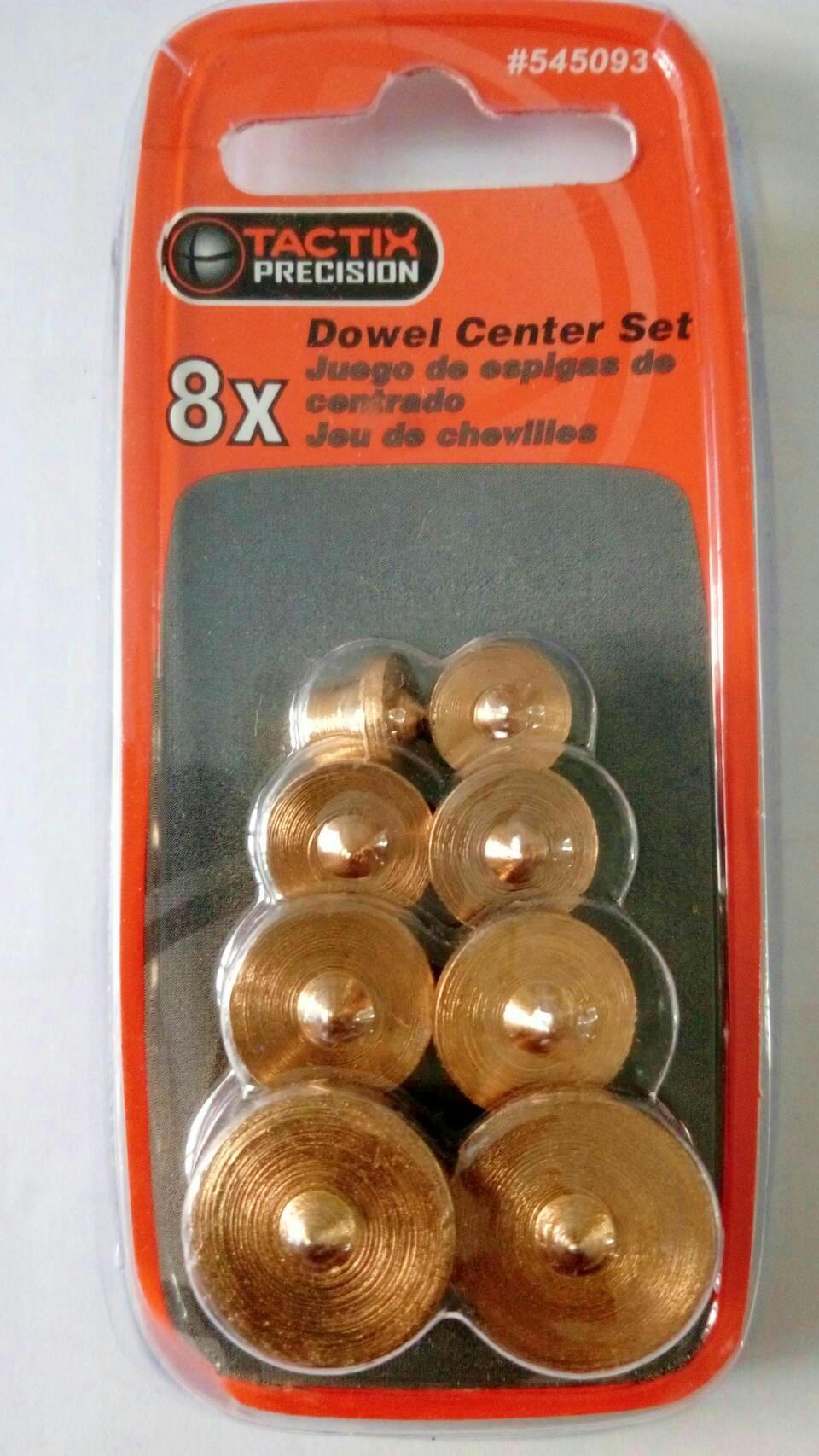 """ชุดตัวเจาะนำศูนย์หน่วยนิ้ว 1/4"""", 5/16"""", 3/8"""" และ 1/2"""" (8x Imperial Dowel Centering Set)"""