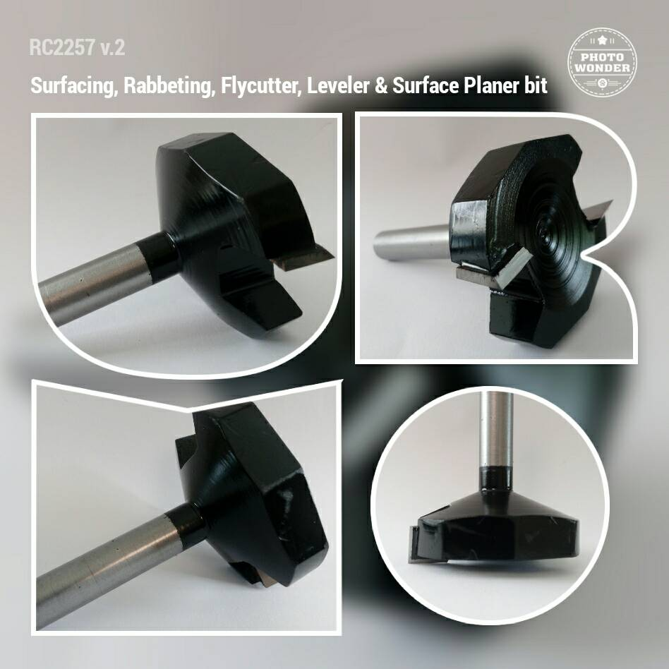 SIT RC2257v2 - ดอกเร้าเตอร์ปรับหน้าไม้ - Surfacing, Rabbeting, Flycutter, Leveler & Surface Planer Bit RC-2257 v.2