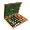 NAREX 853200 Premium 6-pc set w/ Hornbeam Handles in Wooden Box - สิ่ว Narex พรีเมียม รุ่นไม่ขัดมัน (Ground)