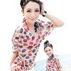 [พร้อมส่ง]Beachwear-250 เสื้อคลุมผ้าซีทรู Lips สีสันสวยงาม