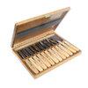 NAREX 894850 - Set of Carving Chisels in Wooden Box 12pcs, WOOD LINE STANDARD ชุดสิ่วสลักไม้ชุดใหญ่ 12 ชิ้น