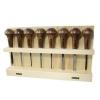 NAREX 868700 Set of Woodturning chisels for Wood carving and Linocut, WOOD LINE PROFI ชุดสิ่วกลึงผลิตด้วยมือ สำหรับงานแกะสลักไม้ และ Linocut