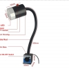 LED Machine Work Light with Magnetic ON-OFF Base 9w Waterproof โคมไฟส่องเครื่องจักรฐานแม่เหล็ก เปิดปิดได้ขนาด 9 วัตต์