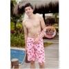 [พร้อมส่ง]BeachMan-615 กางเกงขาสั้นผู้ชาย ลายสตอเบอร์รี่ เนื้อผ้าชุดว่ายน้ำ ใส่ลงเล่นน้ำในสระว่ายน้ำได้