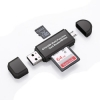 เครื่องอ่านการ์ด USB Micro Card แฟลช OTG TF/SD การ์ดหน่วยความจำ 3 IN 1 (สีดำ)