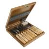 NAREX 894813 Set of Carving Chisels in Wooden Box 9pcs, WOOD LINE STANDARD ชุดสิ่วแกะสลักรุ่นมาตรฐาน 9 เล่มของ Narex