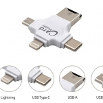 4 in 1 เครื่องอ่านบัตรสำหรับ android ipad/iphone PC (สีขาว)