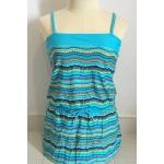 [พร้อมส่ง]Beachwear-144 ชุดว่ายน้ำ ชุดแซก/ชุดคลุม สีฟ้าสวยๆ