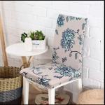 ผ้าคลุมเก้าอี้ สีม่วงลายดอก CH-011