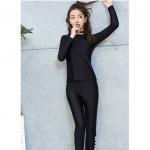[พร้อมส่ง]BKN-2105 ชุดว่ายน้ำแขนยาว+ขายาว สีดำ เซ็ต 3 ชิ้น
