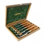 Narex Premium 6-pc set w/ Hornbeam Handles in Wooden Box - สิ่วNarex รุ่นพรีเมียม