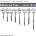 Kreg Pocket-Hole Screws - สกรูสำหรับใช้กับจิ๊กเจาะเอียง (ขนาดเรียงตามความยาว)