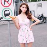 [พร้อมส่ง]BKN-087 ชุดว่ายน้ำวันพีช สีชมพูสวยหวาน ลายดอกไม้
