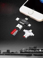 4 in 1 เครื่องอ่านบัตรสำหรับ android ipad/iphone PC (สีดำ)