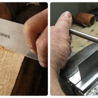 เหล็กขูดไม้ และเหล็กสร้างเกษร (Cabinet Scraper and Burnisher)