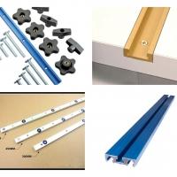 T-Track, Miter Track, Combo Track, Miter Bar, Clamp Track และ อุปกรณ์จับยึดที่ใช้กับราง