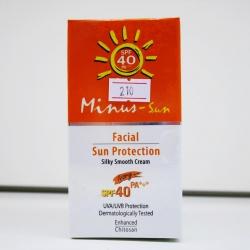 Minus-Sun SPF 40 25 g ไมนัสซัน เอสพีเอฟ 40 (Ivory) ลดริ้วรอยก่อนวัย ฝ้า กระ และจุดด่างดำอันเนื่องมาจากรังสียูวีได้ และมีคุณสมบัติกันน้ำได้อย่างดีเยี่ยม