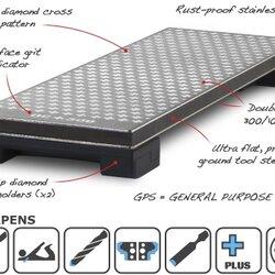 "M-POWER 10019 - 8"" Double Side Diamond Bench Stone (หินเพชรลับคม ชนิด 2 หน้าขนาด 8 นิ้ว ) Made in U.K"