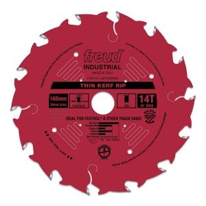 FREUD 14T Thin Kerf Rip Blade for Track Saw - ใบเลื่อยตัดตามเสี้ยนสำหรับเลื่อยราง U.S.A.