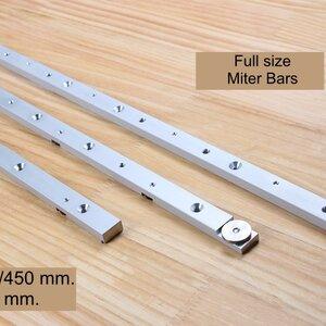 W-NEW Aluminum Miter Bars แท่งอลูมิเนียมสไลด์สำหรับร่อง Miter ใช้ทำจิ๊ก หรือ Sled