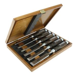NAREX 853053 Set of bevel edge chisels, WOOD LINE PROFI - ชุดสิ่วรุ่น PROFI ในกล่องไม้