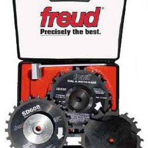 FREUD SD608 - ชุดใบเลื่อยเซาะร่องขนาด 8-inch แบบปรับด้วยแป้นหมุน (Dial-A-Width Dado Set) -ITALY