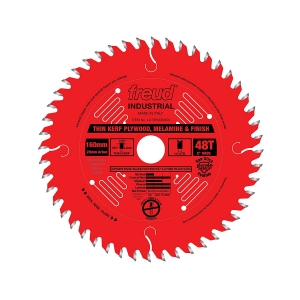 FREUD 48T Thin Kerf Plywood, Melamine and Finish Saw Blade for Track Saws -ใบเลื่อยสำหรับเลื่อยราง สำหรับการตัดไม้อัด ไม้จริง ไม้ปิดวีเนียร์ และเมลามีน U.S.A.