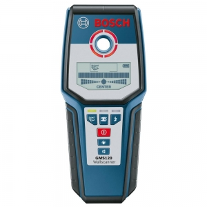 BOSCH GMS-120 Metal Detector and Wall Scanner- เครื่องตรวจหาโลหะ และสแกนผนังบ๊อช GMS120
