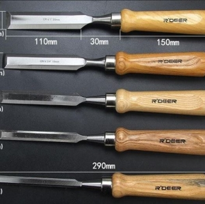 R'Deer สิ่วงานไม้ เหล็ก Cr-V ชุด 5 เล่ม ขนาด 10, 12, 16, 19 และ 25มม.
